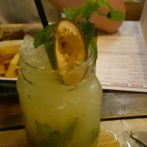 Baby friendly passion fruit mojito :)