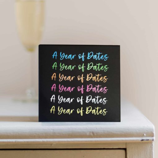 A Year of Dates Print Colour examples
